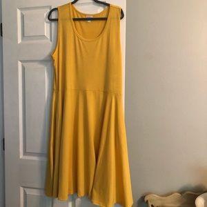 Lularoe 2x solid Nikki beautiful yellow NWT